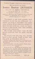 Doodsprentje Joannes Janssen (x Neyens ) Oud-strijder Oorlog 1914-1918 ° Meeuwen 1885 + Wijchmaal Wijchmael 1935 - Images Religieuses