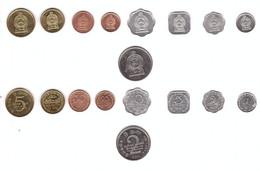 Sri Lanka - Set 9 Coins 1 2 5 10 25 50 Cents 1 2 5 Rupees 1978 - 2011 AUNC / UNC Lemberg-Zp - Sri Lanka
