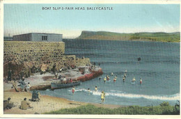 BOAT SLIP & FAIR HEAD - BALLYCASTLE - POSTALLY USED FROM COLERAINE - 1952 - BELFAST PUBLISHER - Londonderry