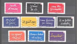 """France Autoadhésifs Oblitérés N°1979 à 1988 (Série Complète : Croix-rouge 2021 """"on Peut Le Faire"""" Ben) (lignes Ondulées) - 2010-.. Matasellados"""