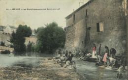 48*Lozère* - Mende - Les Blanchisseuses Du Bord Du Lot (colorisée) - Mende