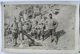 Militaria - Carte Photo Groupe De Militaires Et MORTIER De 75 Mm - Au Maroc ?? - BE - Weltkrieg 1914-18
