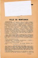 Que Sur La Ville De MONTARGIS Avec Les Noms Des Commerçants La Listes Des Habitants 85 Pages Pris Sur Un Annuaire 1913 - Sin Clasificación