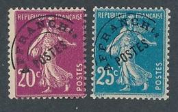 ED-3: FRANCE: Lot Avec Préo** N°55-56a - 1893-1947