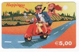 Scheda Carta Telefonica Internazionale HAPPINESS Prepagata 5,00 Euro, Usata. Il Pin è A Destra Della Carta - Unclassified