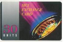 Scheda Carta Telefonica Internazionale MCI Exchange Card Prepagata 30 Units, Usata. - Unclassified