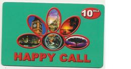 Scheda Internazionale HAPPY CALL, 10.000 Lire, Scadenza 25/12/2002, Usata. - Unclassified