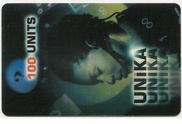 Scheda Internazionale UNIKA, 100 Units, Usata. Scadenza 31/12/2000 - Unclassified