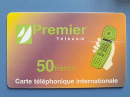 Carte Premier Télécom 50F Sans Date De Validité - Prepaid Cards: Other