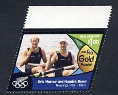 NZ Nouvelle Zélande JO De Rio 2016 Médaille D'or - Aviron - Murray - Bond - 2 De Pointe - Summer 2016: Rio De Janeiro