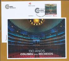 Postal Stationery Coliseu Dos Recreios, Lisbon's Multipurpose Concert Hall. Movie Theater. Theater. Circus. Song. Kino - Cinema