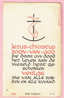Bidprentje - LODE OTTEN Missionaris Afrika - EEREMIS Kasterlee 1945 - Imágenes Religiosas