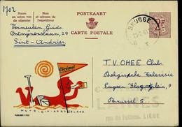 Publibel Obl. N° 1702  ( Buvez CECEMEL - Lait Chocolat - Plage - Parasol) Obl. BRUGGE - B X B - Du 23/02/61 - Publibels