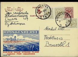 Publibel Obl. N° 1768  ( BLANKENBERGE : Casino- Aquarama - Plage ) Obl. ANTWERPEN - D X D - Du 27/11/63 - Publibels