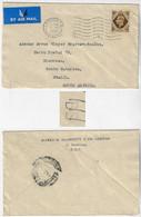 Great Britain 1952 Cover London To Blumenau Brazil Transorma Electronic Sorting Mark BSscreening Done In Rio De Janeiro - Storia Postale