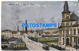 168833 CZECH REPUBLIC AUSSIG CHEMICAL FACTORY & TRAMWAY POSTAL POSTCARD - Repubblica Ceca