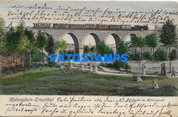 168883 GERMANY HOHENSTEIN ERNSTTHAL VIEW BRIDGE TRAIN & PLACE POSTAL POSTCARD - Non Classificati