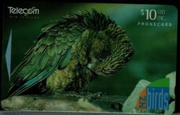 NEW ZEALAND 1996 PHONECARD BIRDS USED VF !! - Aquile & Rapaci Diurni