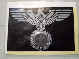 Rare Nazi Party Numismatic Card With A Coin Of Germany Empire. - German
