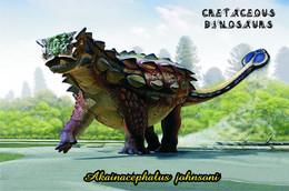 Carte Postale, Animaux Prehistoriques, Cretaceous Dinosaurs, Akainacephalus Johnsoni - Altri