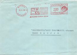 Yugoslavia Slovenia Maribor Letter - Meter Stamp 1979 - Covers & Documents