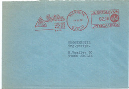 Yugoslavia Slovenia Maribor Letter - Meter Stamp 1978,motive : Butterflies / Papillons / Schmetterlinge - Covers & Documents