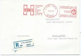 Yugoslavia Slovenia Ljubljana R - Letter - Meter Stamp 1979 - Covers & Documents