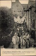 CPA Béhuard Maine-et-Loire, Notre Dame De Behuard, Les Fetes Du Couronnement, 1923 - Andere Gemeenten