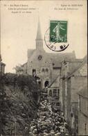 CPA Béhuard Maine-et-Loire, Un Jour De Pelerinage, Eglise - Andere Gemeenten