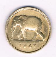 2 FRANCS 1947   BELGISCH CONGO /6694/ - 1945-1951: Regency