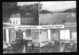 DDR Foto AK Falkenstein Im Vogtland, Gaststätte Göltzschtalmühle, Innen- Und Außenansicht - Falkenstein (Vogtland)