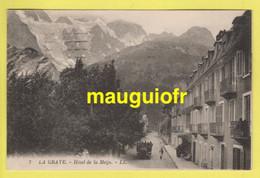 05 HAUTES ALPES / LA GRAVE / HÔTEL DE LA MEIJE ET CAR DÉCOUVERT TRANSPORTANT LES TOURISTES / 1923 - Andere Gemeenten