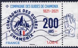 5490 COMPAGNIE Des GUIDES De CHAMONIX    OBLITERE ANNEE 2021 - Oblitérés
