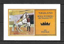 Nagaland 1973 Royal Wedding IMPERFORATE MS MNH (DMS08) - Case Reali