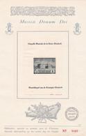 Feuillet Numéroté PR47 Musica Donum Dei Chapelle Musicale Reine Elisabeth - Privados & Locales