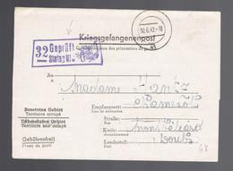 Kriegsgefangenenpost Stalag VI J 30 6 42 => Montbéliard ( France) Lyre ( Musique ) Dans La Griffe De Censure - Seconda Guerra Mondiale