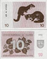 Lithuania 1991 - 10 Talonas - Pick 35b UNC (with Text) - Lithuania