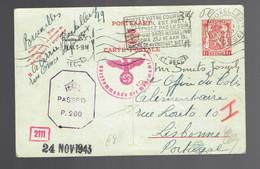 CP 132 Bruxelles 4 10 43 => Colis Alimentaire Lisbonne Censure Allemande Et Anglaise - Lettere