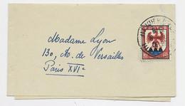 FRANCE BLASON 60C NICE SEUL PETITE BANDE COMPLETE PARIS 1949 AU TARIF - 1941-66 Coat Of Arms And Heraldry