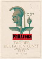 III. Reich: Propaganda Karte Tag Der Deutschen Kunst 1937 Mit Sonderstempel - Zonder Classificatie
