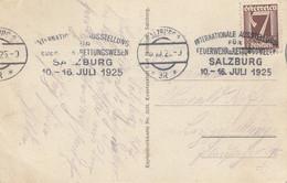 Österreich: 1925: Salzburg Feuerwehr Ausstellung - Brieven En Documenten