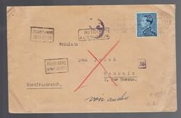 """Poortman 430 / Lsc Bruxelles ? III 1942 => Roubaix """"Parti Sans Laisser D'adresse"""" """"retour"""" Voir Verso L'expéditeur - Lettere"""
