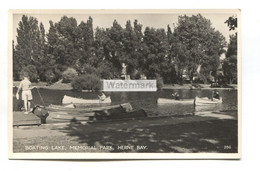 Herne Bay - Boating Lake, Memorial Park - 1950's Or 60's Kent Real Photo Postcard - Altri