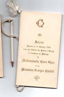 CARNET DE BAL SOIREE DANS LES SALONS D ORSUN LE 11/10/1905 AVEC SON CRAYON - Ohne Zuordnung
