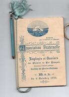 CARNET DE BAL OUVIERS DES CHEMIN DE FER PARIS ORLEANS  LE 11/10/1894 AVEC SON CRAYON - Zonder Classificatie