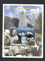 Sao Tome 2004 Animals - Panda IMPERFORATE MS MNH (DMS04) - Autres