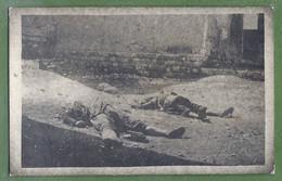 CARTE PHOTO - SYRIE - RÉVOLUTION SYRIENNE DE 1925 - CIVILS TUÉS PAR DES REBELLES DRUZES - Syrië