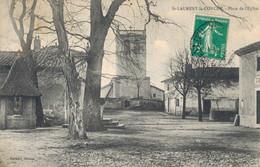 H0409 - St LAURENT La CONCHE - D42 - Place De L'Eglise - Andere Gemeenten