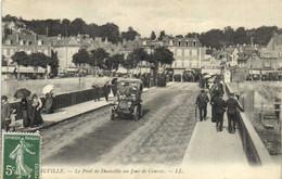 DEAUVILLE Le Pont De Deauville Un Jour De Courses Belle Voiture D'epoque  RV - Deauville