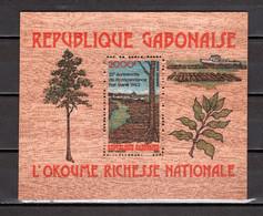 GABON BLOC N° 43   NEUF SANS CHARNIERE COTE 45.00€   BOIS ARBRE  BLOC SUR BOIS - Gabon